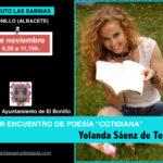 El bonillo instituto las sabanas yolanda saenz de tejada taller de poesía