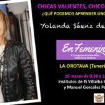 Yolanda saenz de tejada La Orotava congreso de literatura en femenino igualdad institutos canarias