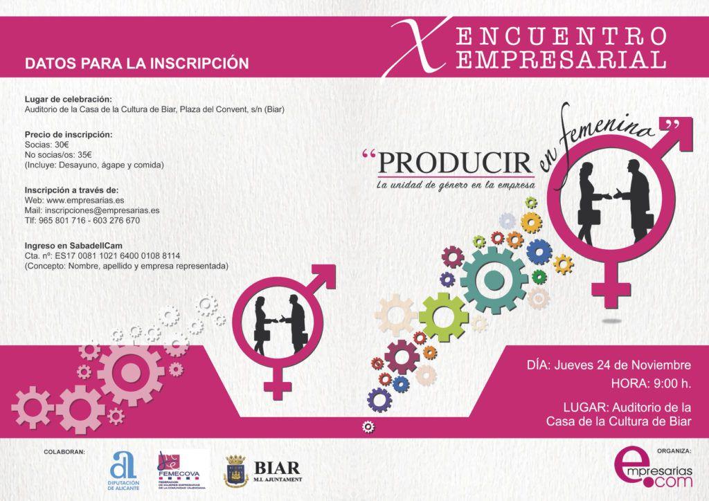 yolanda saenz de tejada producir en femenino Encuentro de empresarias de villena Biar