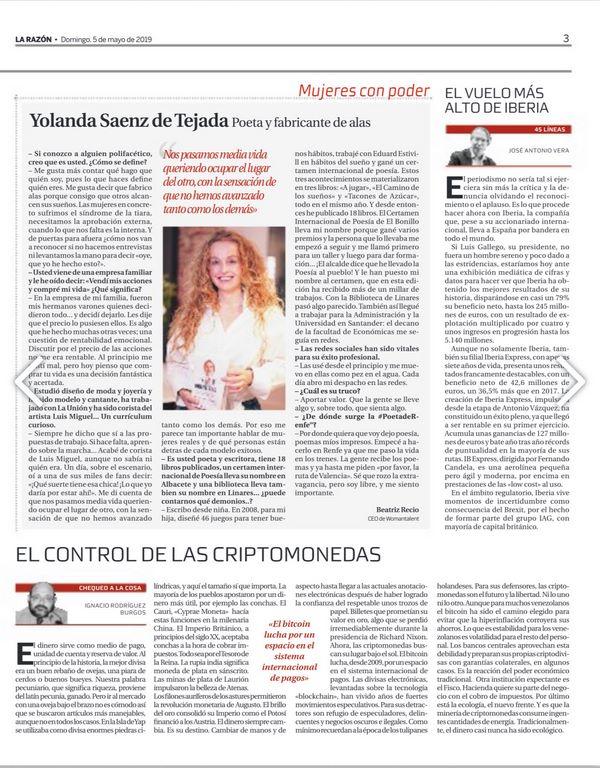 mujeres con poder visibilidad femenina entrevista la razón yolanda saenz de tejada
