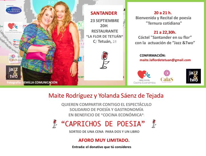 Caprichos de Poesia Santander Evento solidario