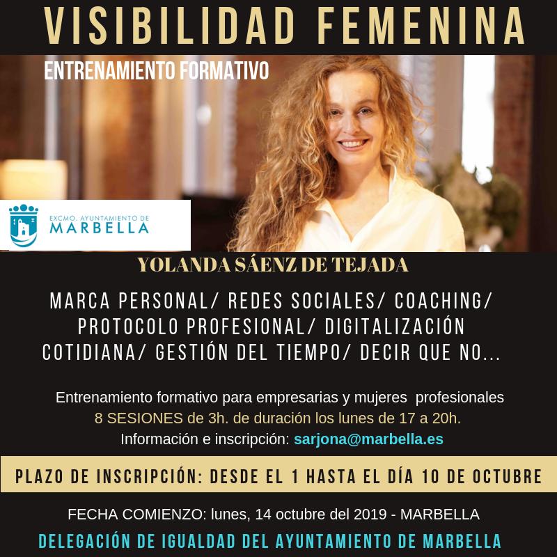 visibilidad femenina marbella curso Yolanda saenz de tejada