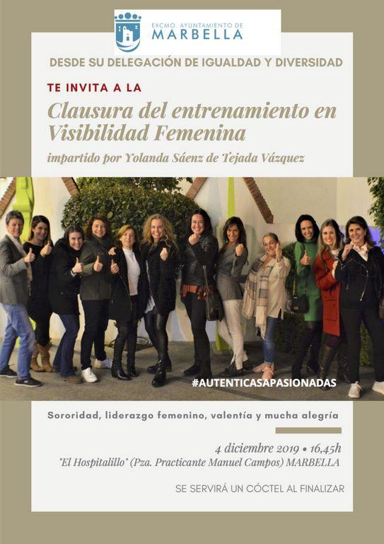 clausura visibilidad femenina marbella mujeres profesionales yolanda saenz de tejada