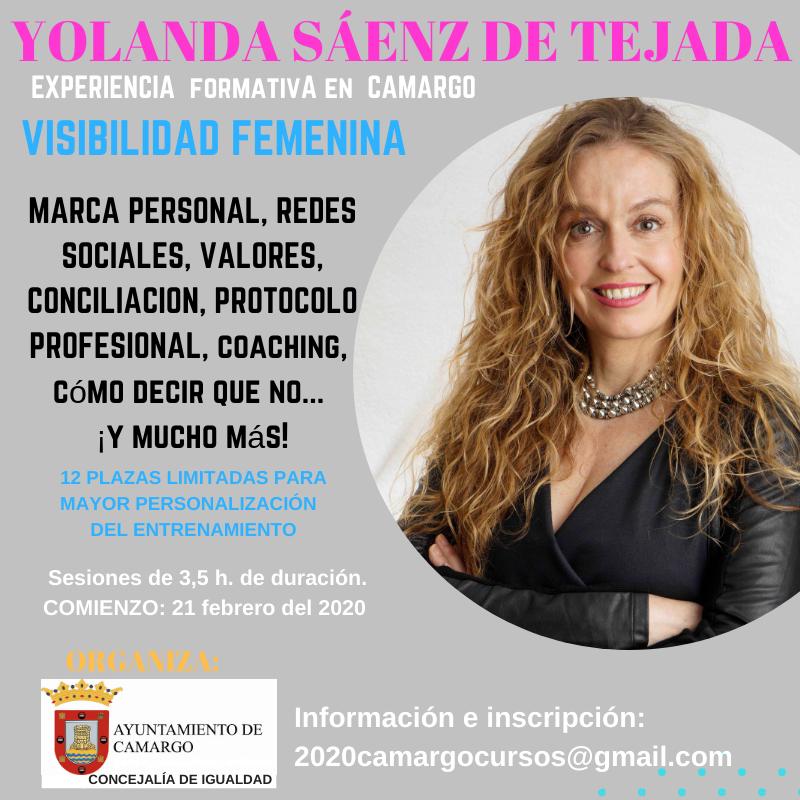 experiencia formativa visibilidad femenina camargo Yolanda sáenz de tejada