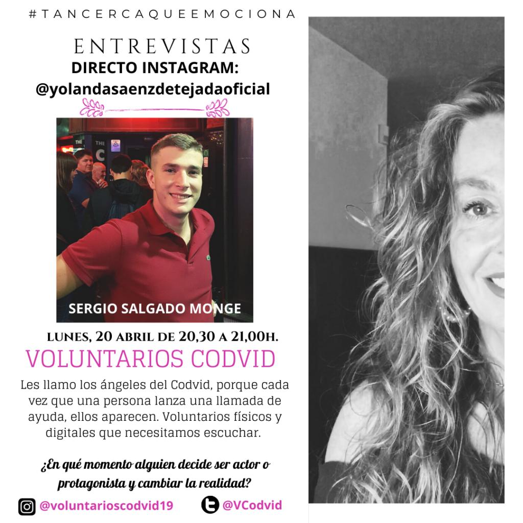 entrevista voluntarios codvid yolanda saenz de tejada sergio salgado