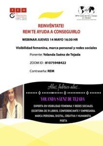 Conferencia yolanda saenz de tejada rem marca personal para mujeres, liderazgo femenino y redes sociales. Visibilidad femenina