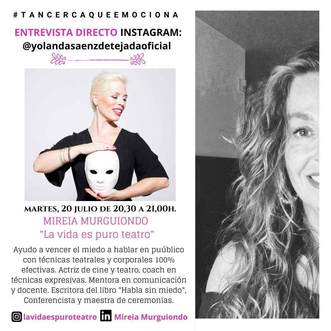 Entrevista a Mireia Murguiondo. Tan cerca que emociona. Hablar en público desde el cuerpo