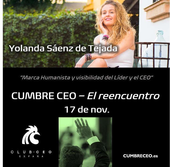 congreso CEO. Entrevista Yolanda Sáenz de Tejada. Liderazgo humanista y visibilidad de valores