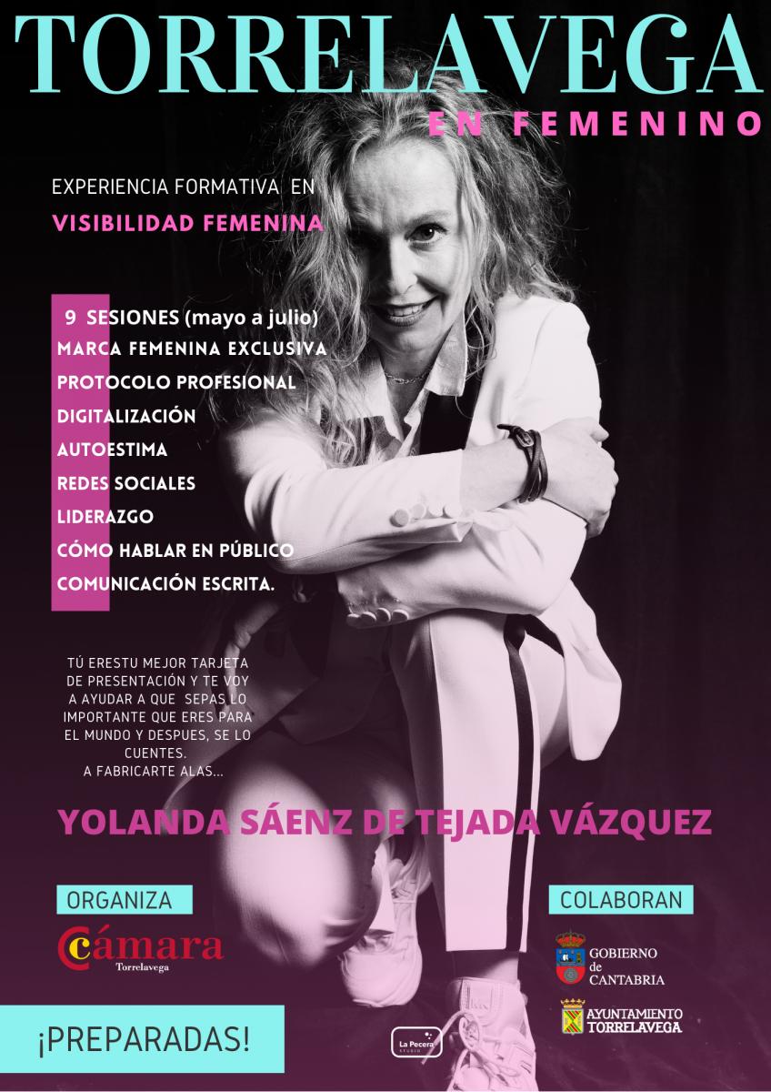 visibilidad femenina en Torrelavega. Curso para mujeres organizado por cámara de comercio. Yolanda Sáenz de Tejada