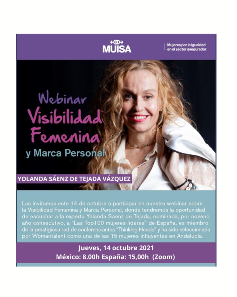 Conferencia visibilidad femenina méxico Yolanda sáenz de tejada vazquez